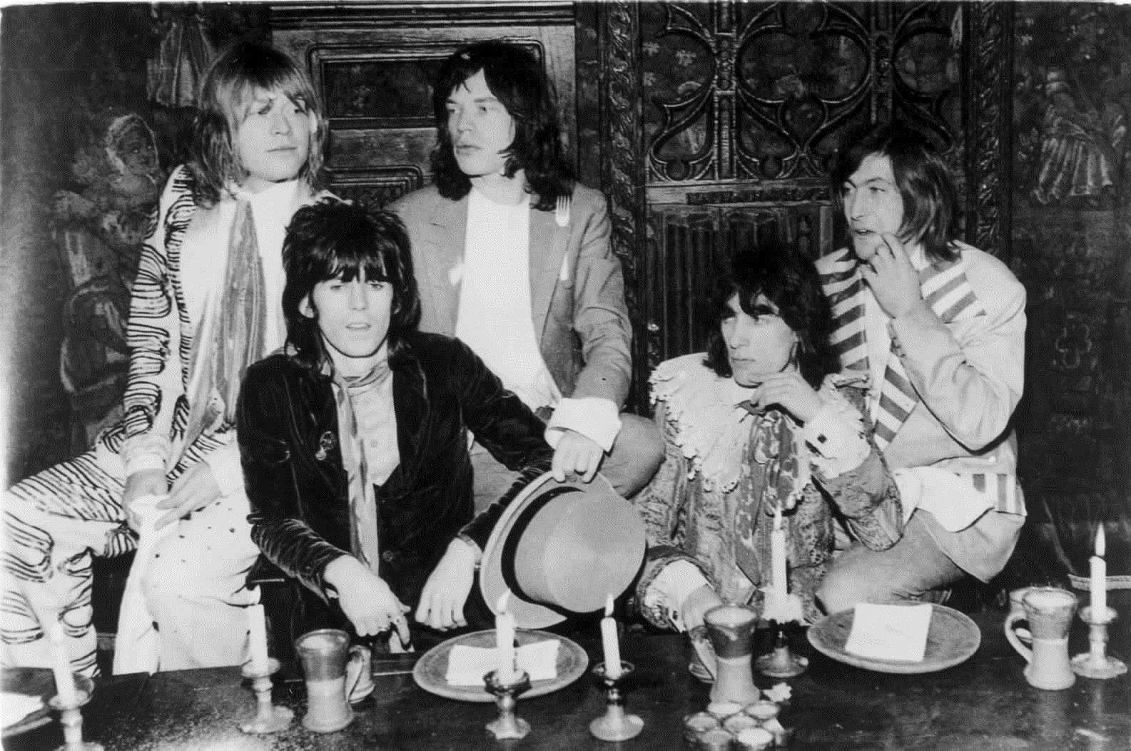 The Rolling Stones, (left to right) Brian Jones, Keith Richards, Mick Jagger, Bill Wyman and Charlie Watts