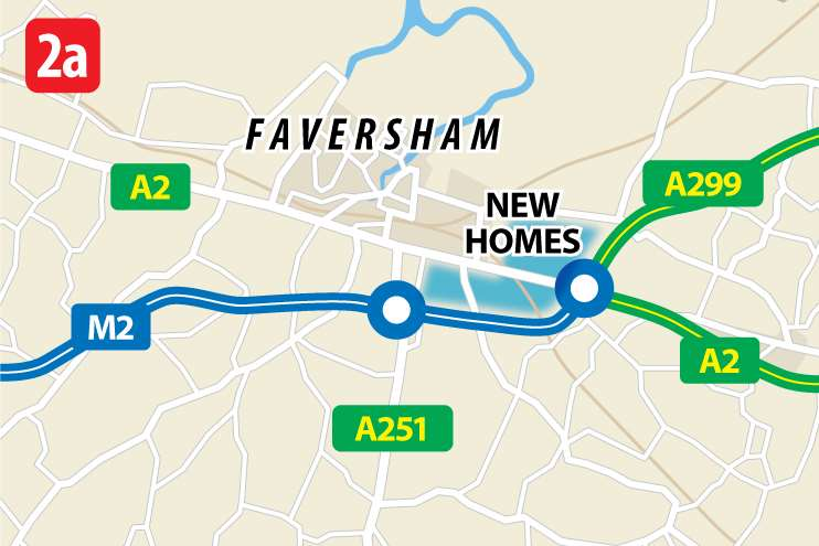 A settlement of 5,000 units south east of Faversham