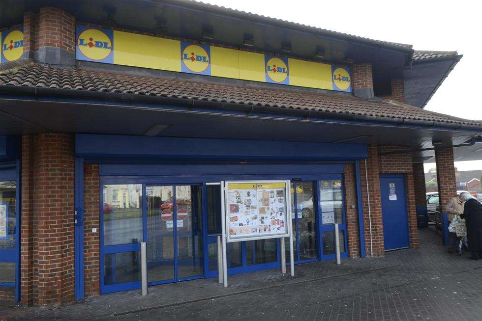 The Lidl store in New Street, Ashford