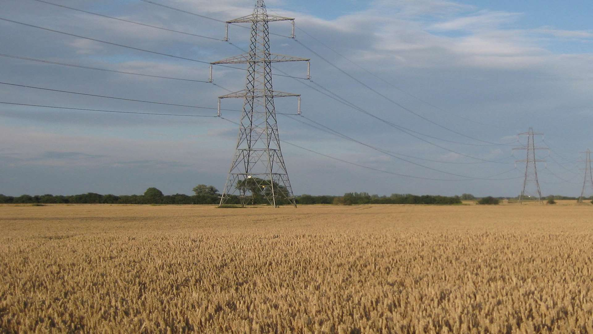 The standard pylon that will be used in the Richborough Connection project