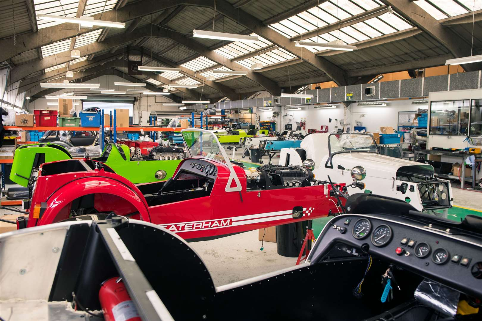 The Caterham factory in Dartford. Picture: PA Photo/Johnny Fleewood