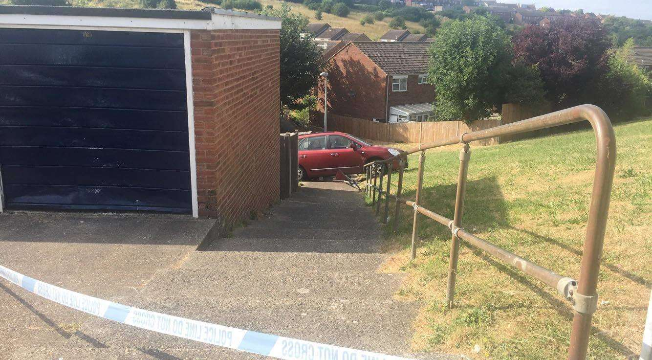 The car ended up ploughing through a neighbour's fence, picture Logan Enfield