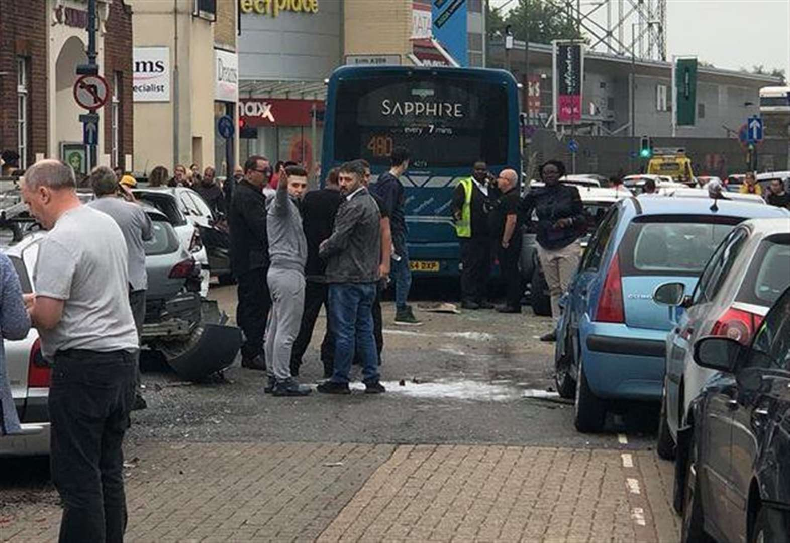 Outcry at car ticketed after bus crash