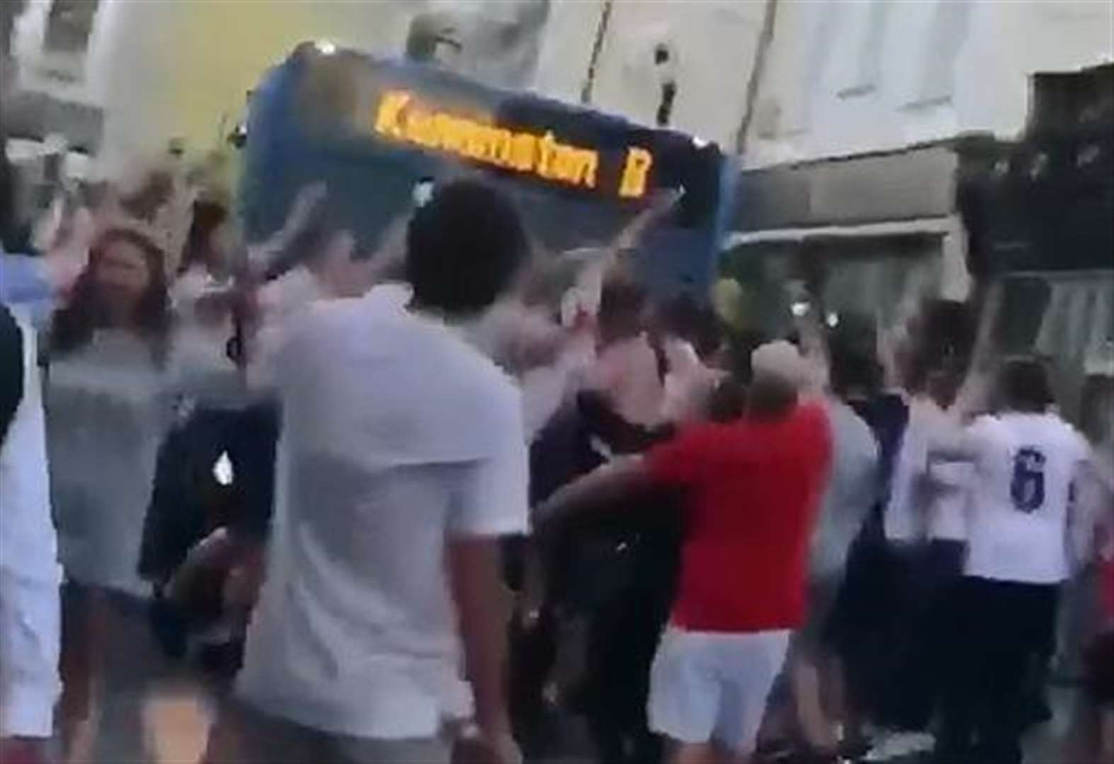 England fans stop traffic after win