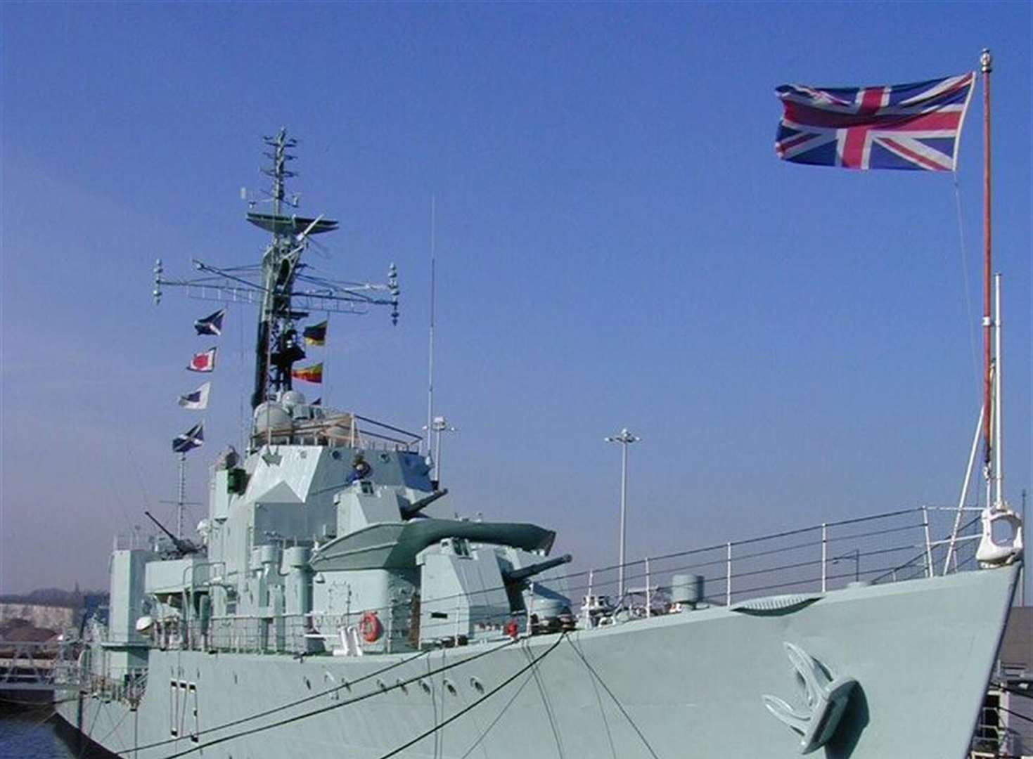 Naval frigate company heading for Chatham