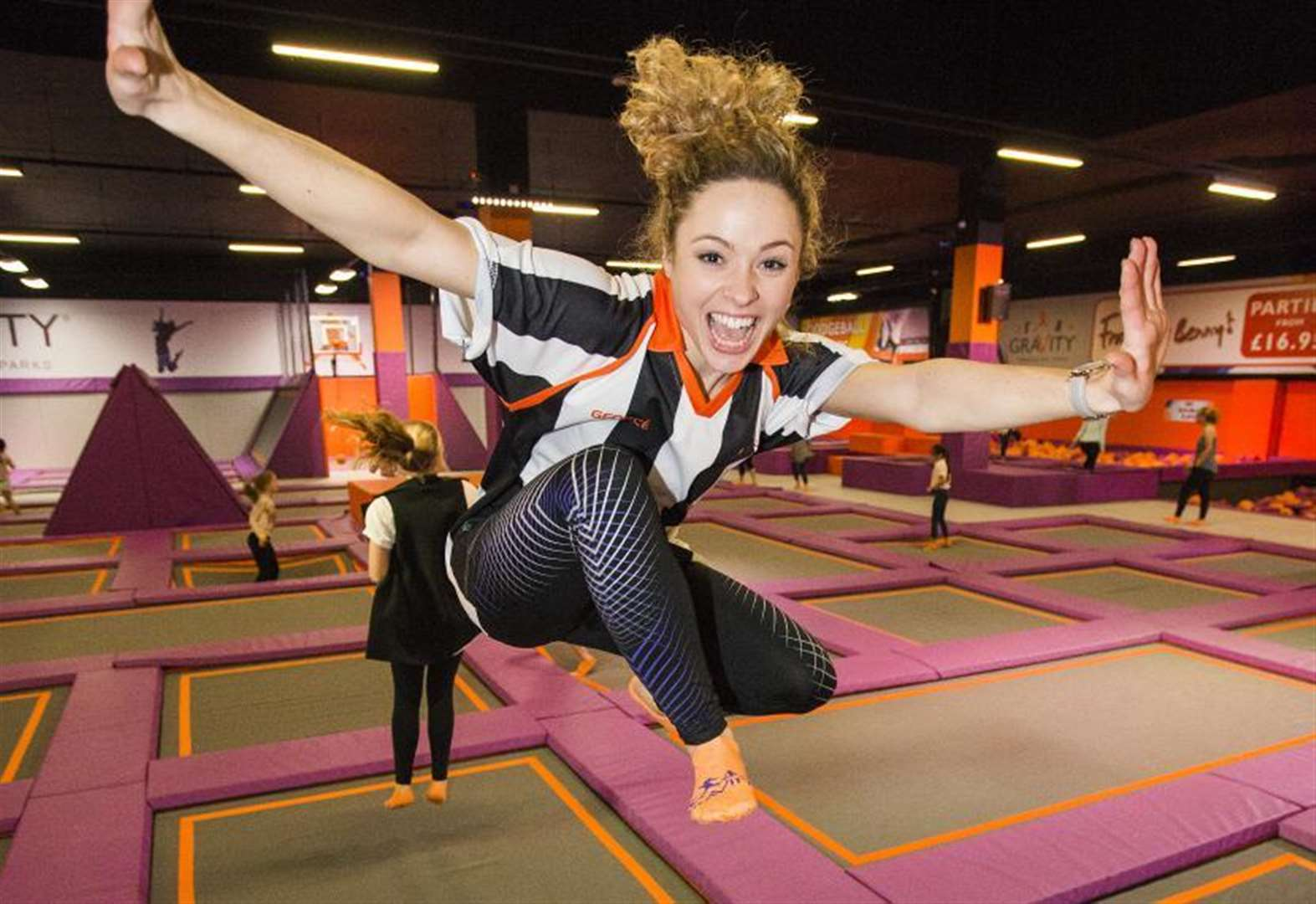 Girl rushed to hospital from trampoline park