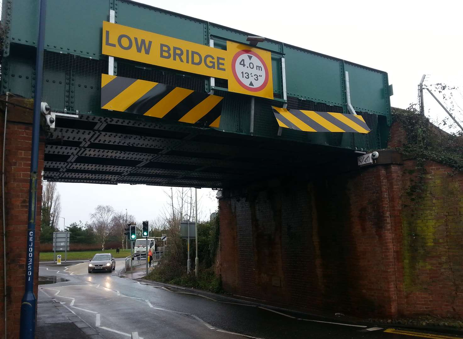 Train delays after lorry hits bridge