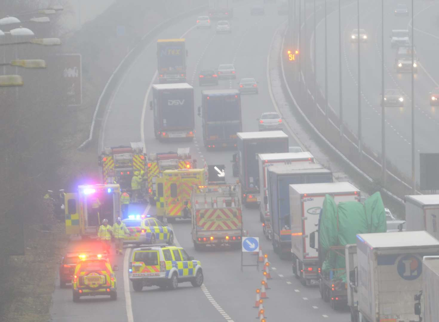 Motorway closed after serious crash