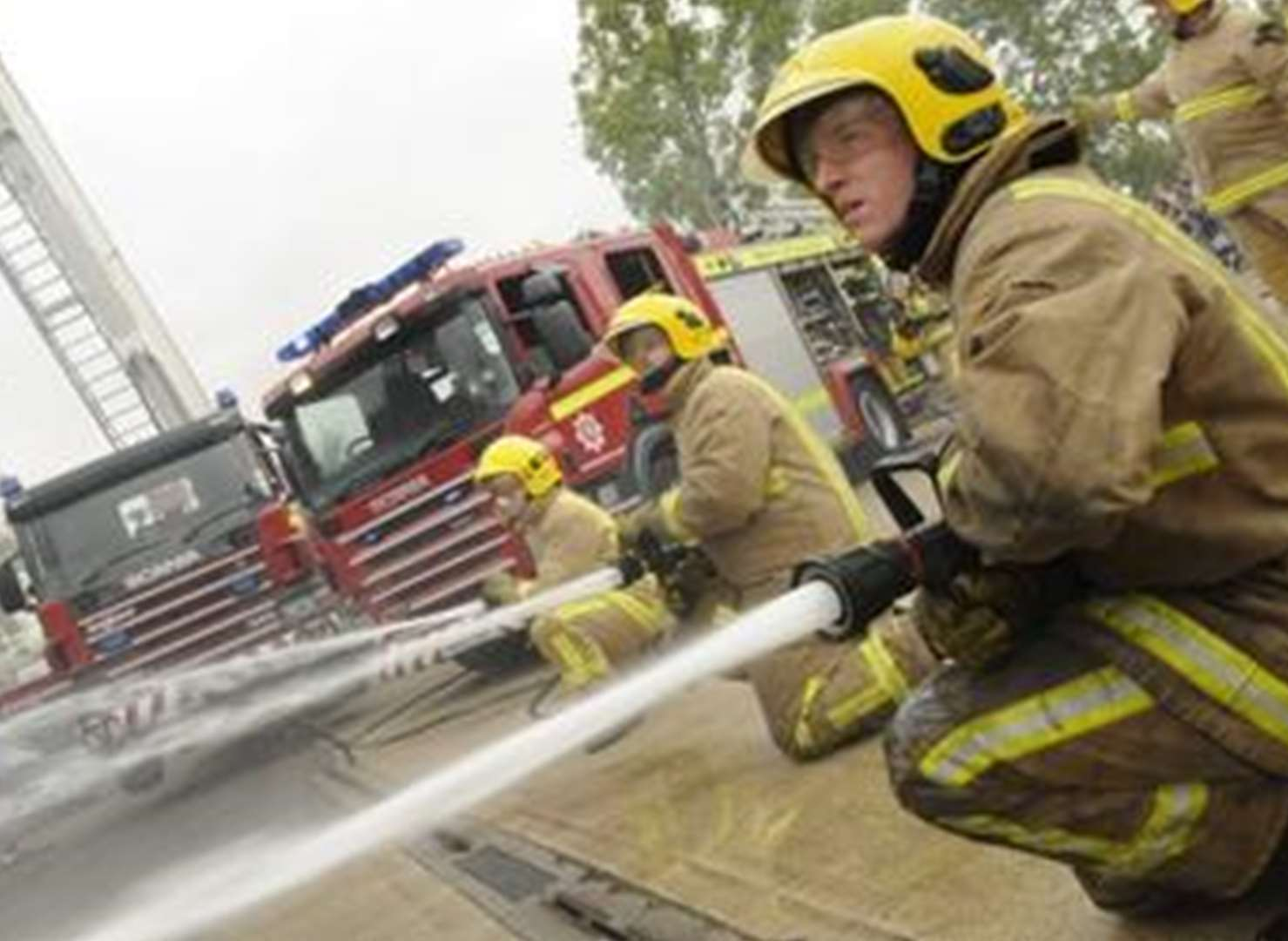 Firefighters strike for first time in decade