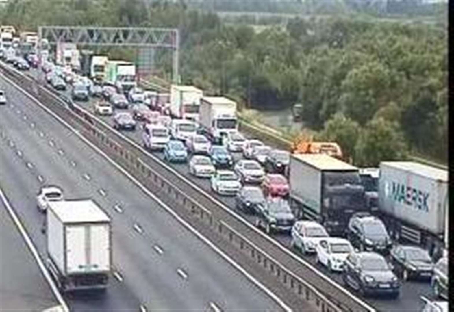 Rush-hour delays at Dartford Tunnel