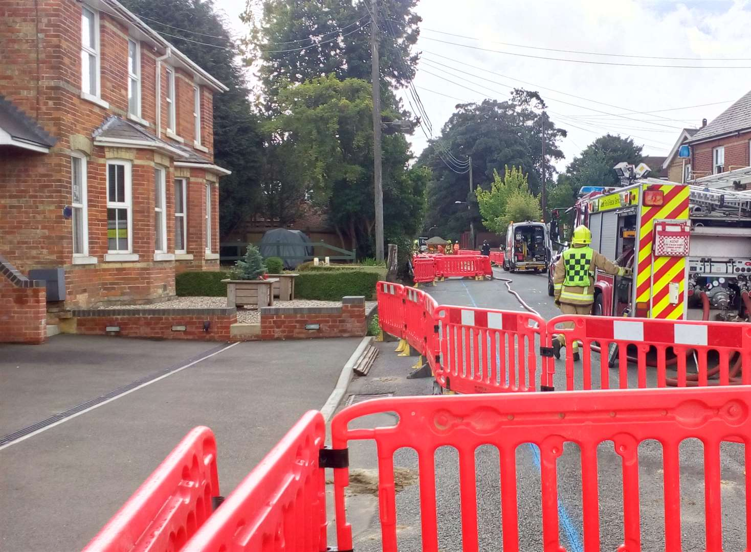 Homes evacuated after gas leak fire 'disaster'