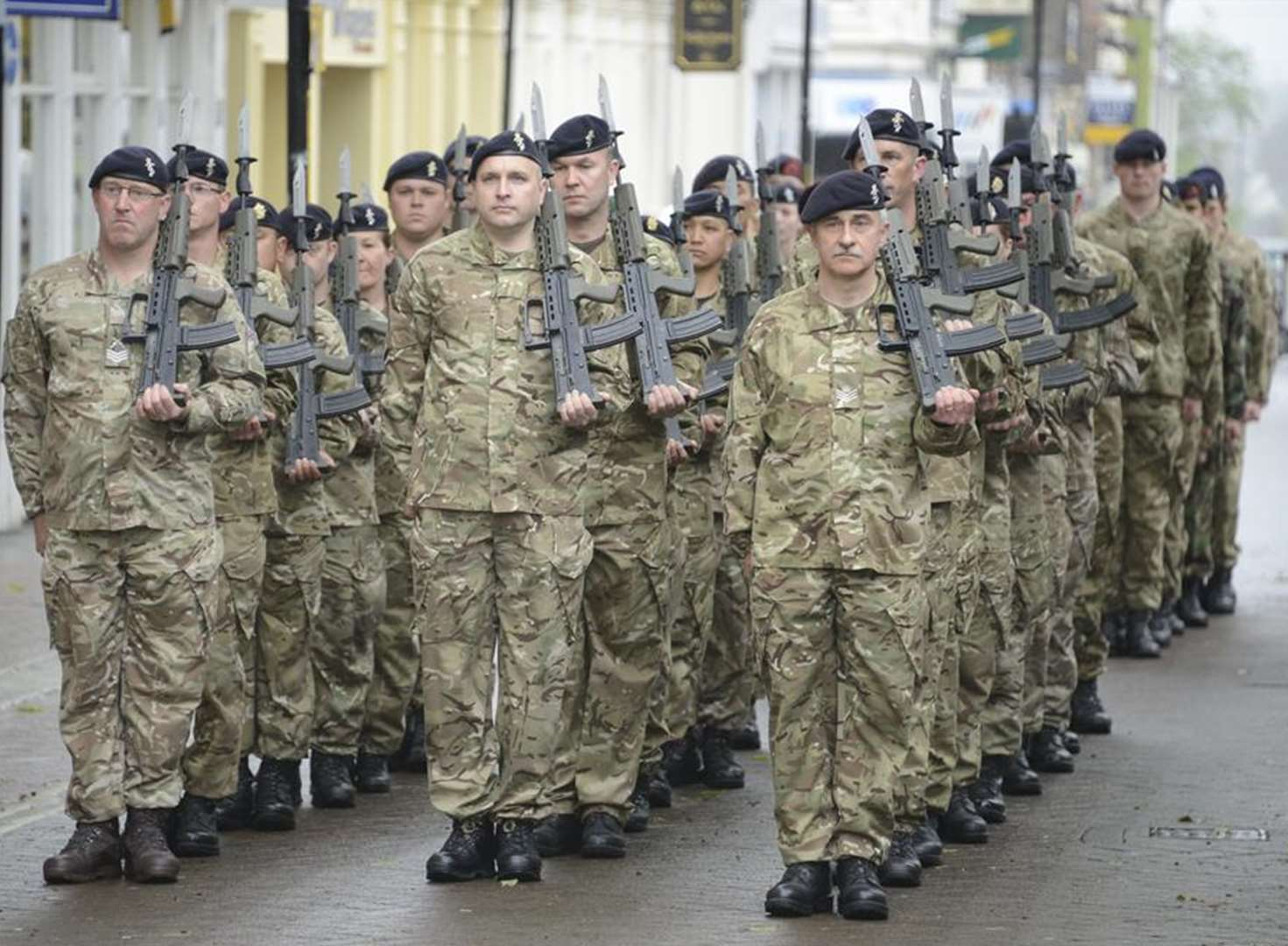 Soldiers exercise their right to march through Ashford