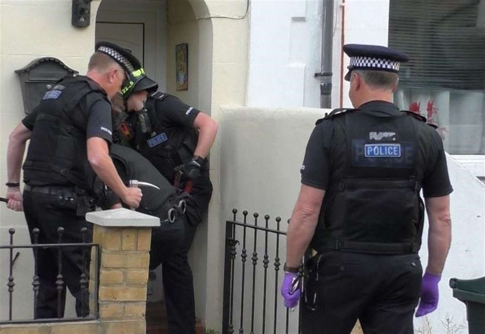 Two arrests after early morning raid