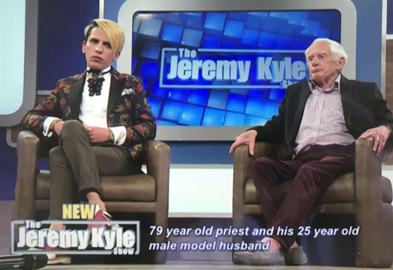 Priest declares love for toy boys on Jeremy Kyle