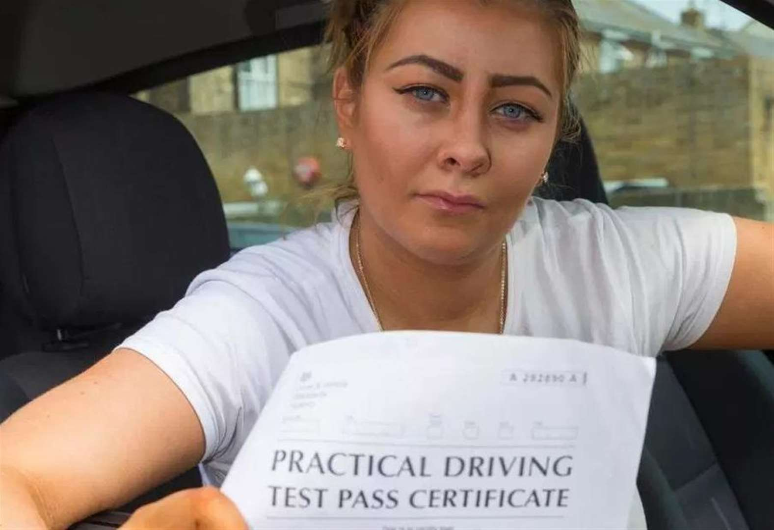 Mum fails driving test one day after 'passing'
