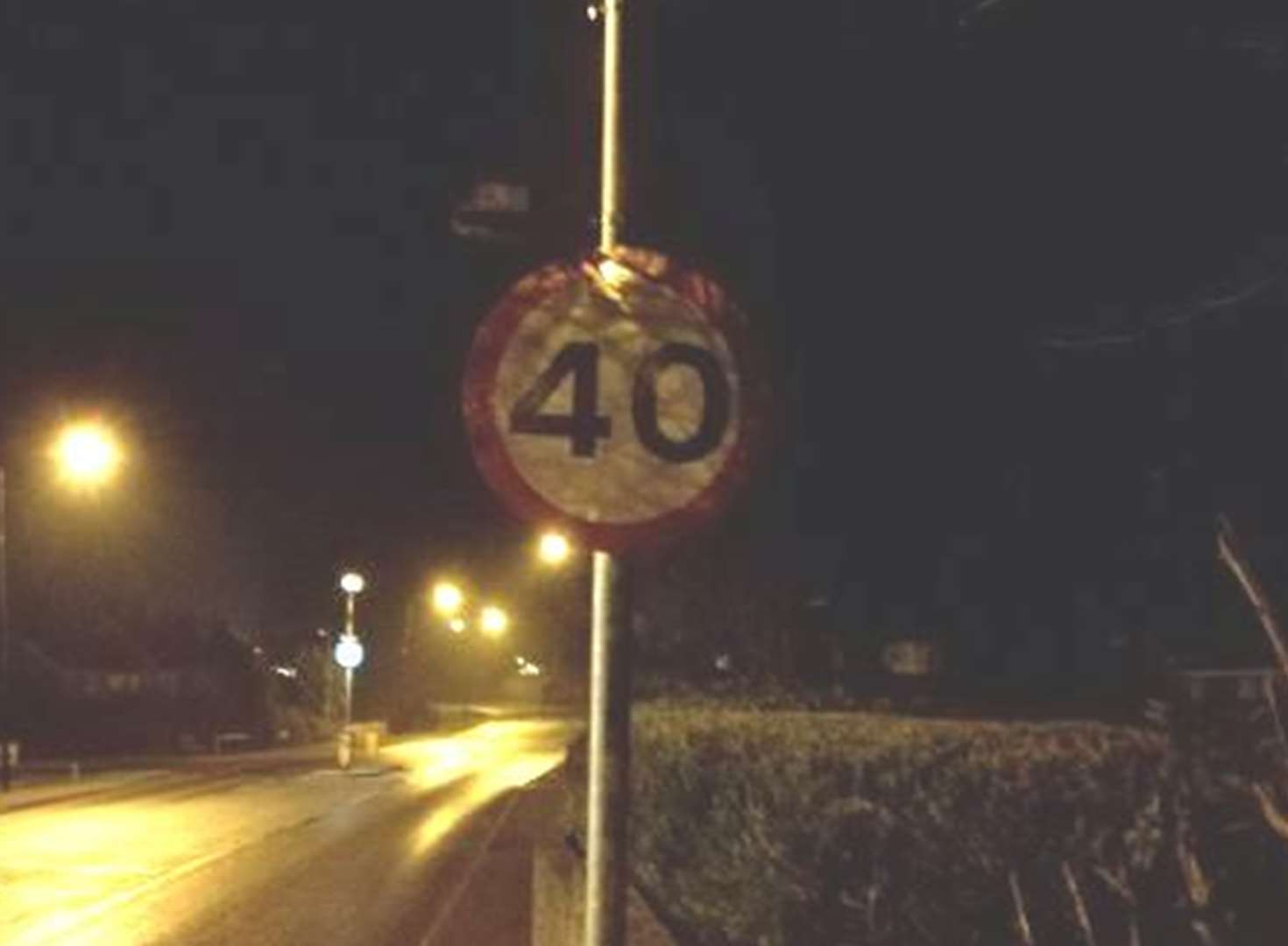 Slow down! Wrong speed limit sign installed