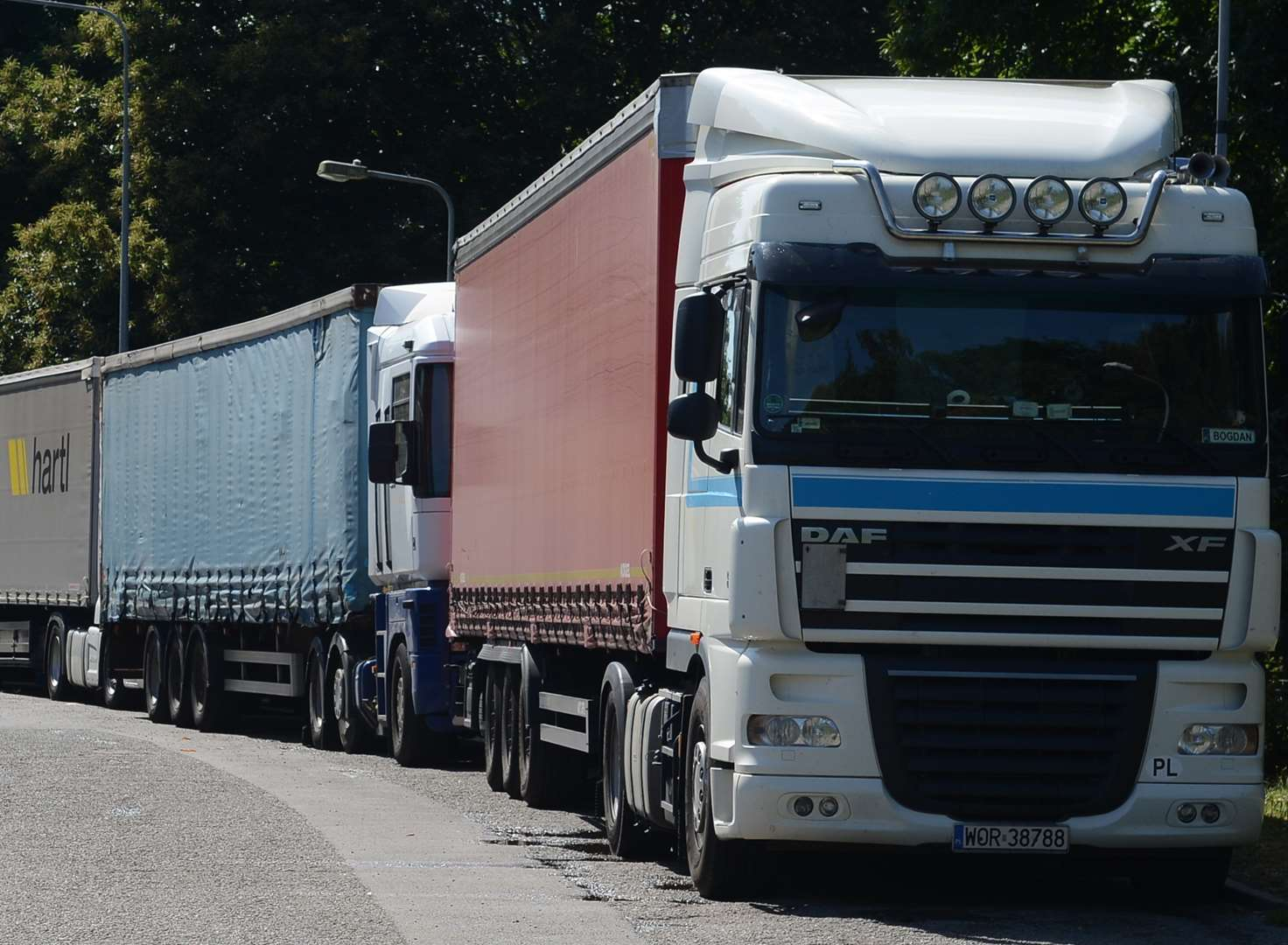 Lorry park turns away 500 vehicles a week