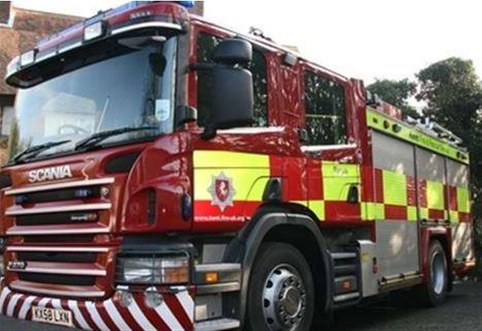 Woman treated for shock after fire