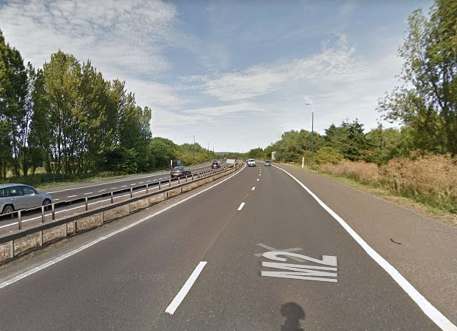 Lorry and car smash sparks motorway delays