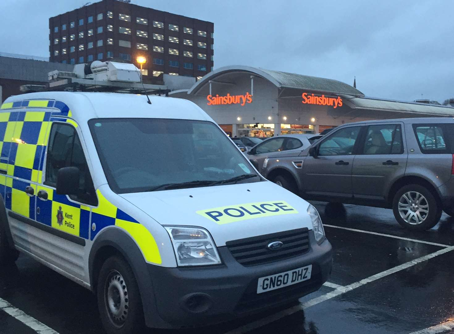 Body discovered near town centre supermarket