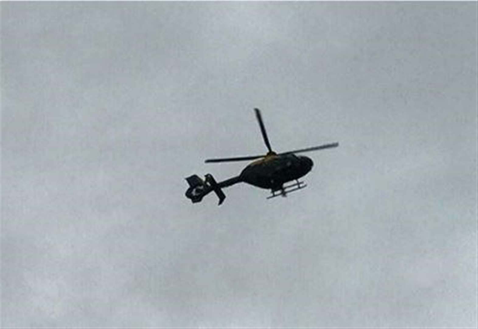 Helicopter search for driver after crash