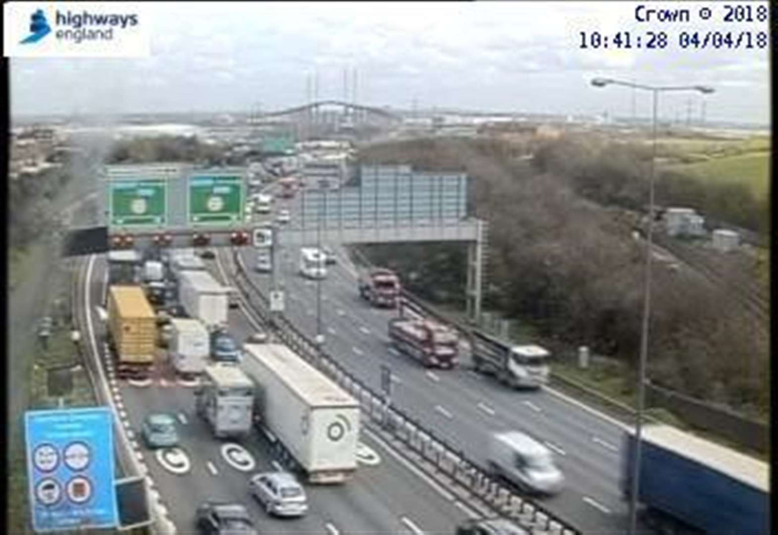 Dartford Crossing delays after lorry accident shuts lanes