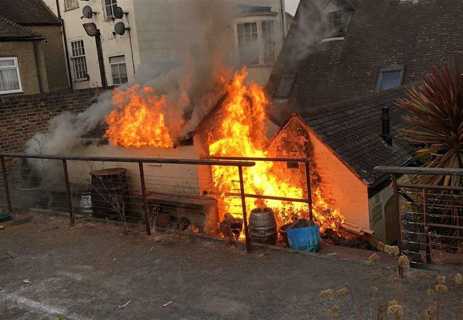 Town centre fires treated as arson