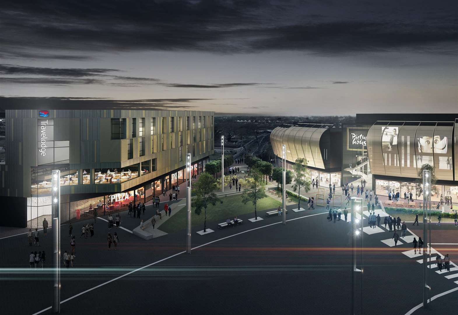 Town centre cinema and leisure complex takes stride forward