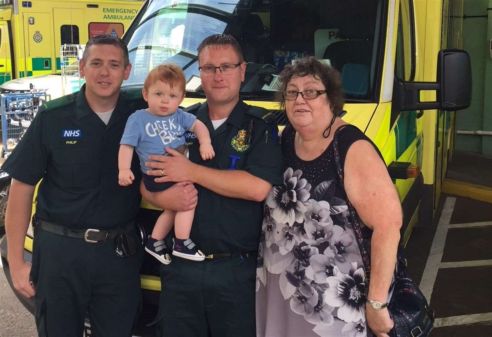 Gran visits medics who saved her life after heart attack