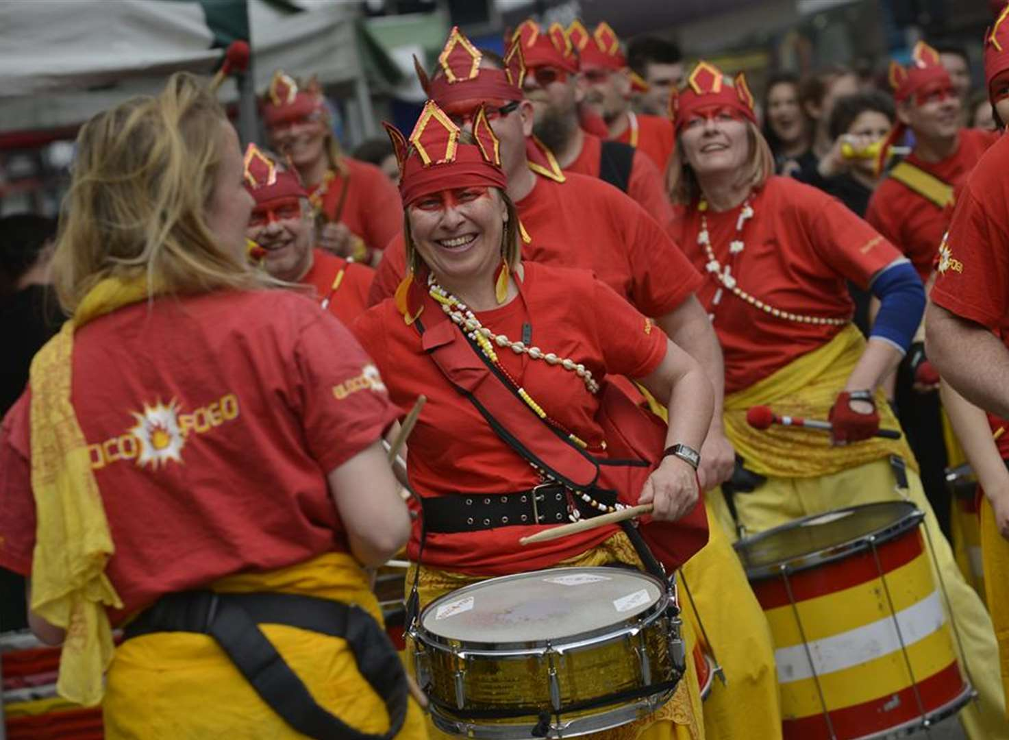 Drumbeats echo through town at arty festival