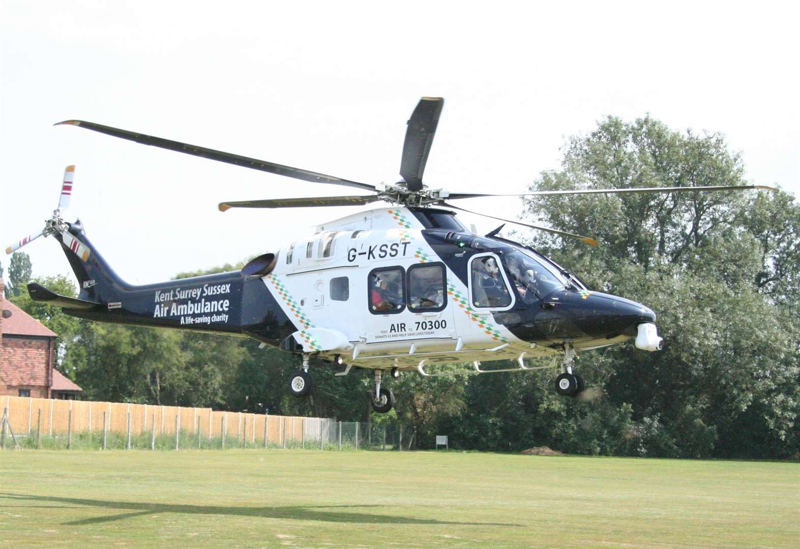 Air ambulance lands on cricket pitch