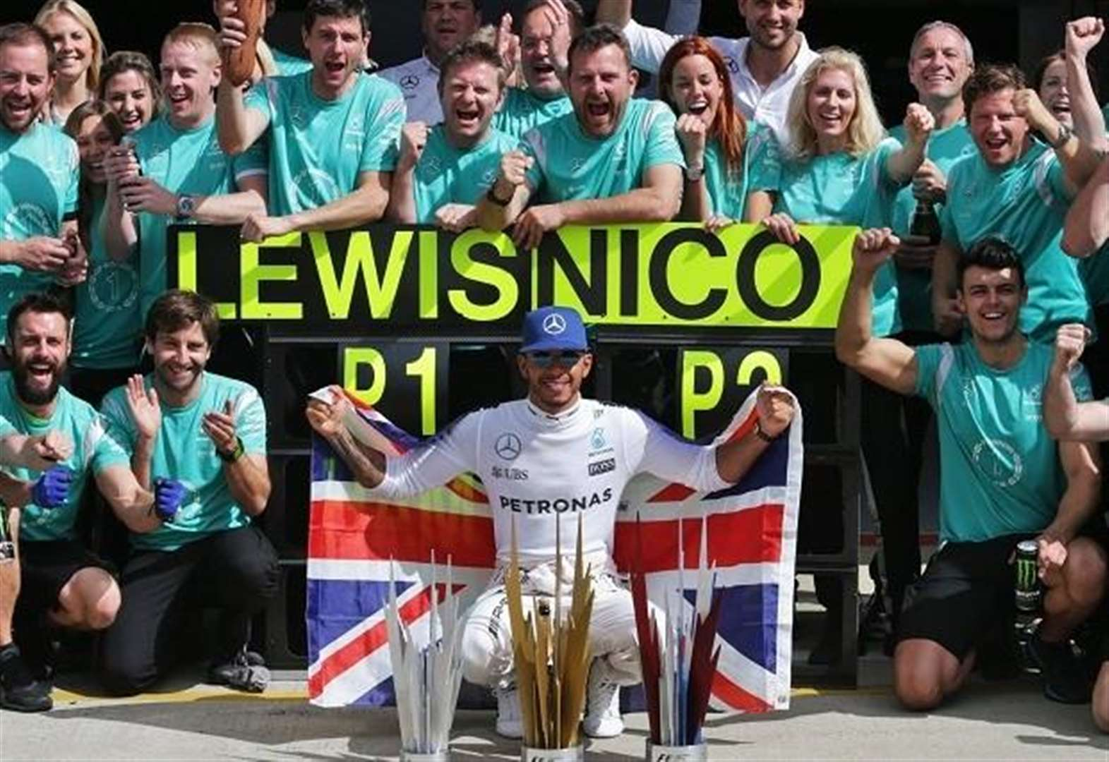 Formula 1 British Grand Prix 2018 trophies made in the county