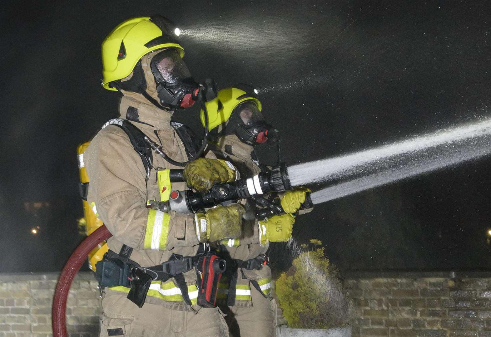 Shed fire spreads to home