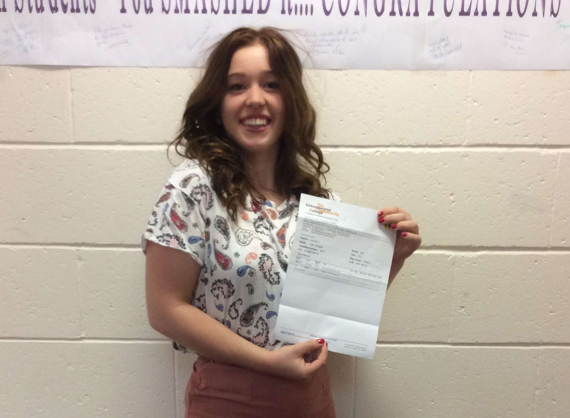 Swale Sixth Form's Josie Pengelly is off to uni