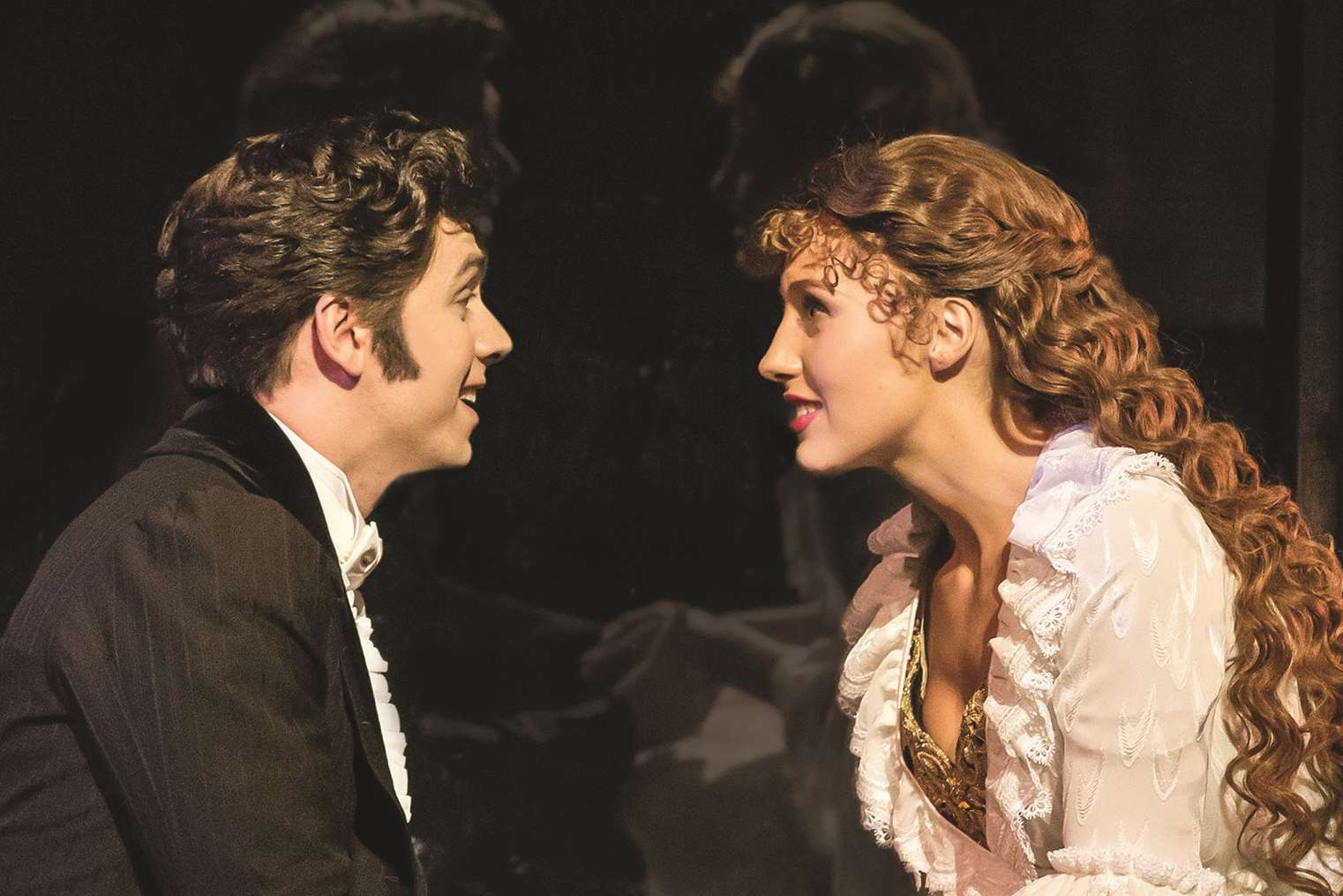 Nadim Namaan with Celinde Schoenmaker in the West End production of The Phantom of the Opera Picture: Johan Persson