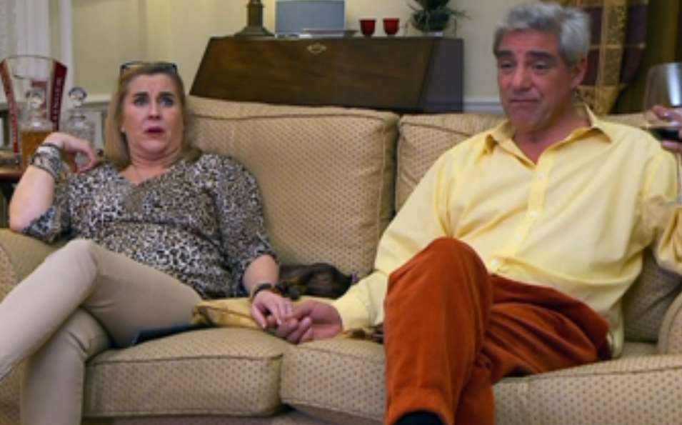 Gogglebox stars Dom and Steph Parker in action on Channel 4. Picture: 4OD