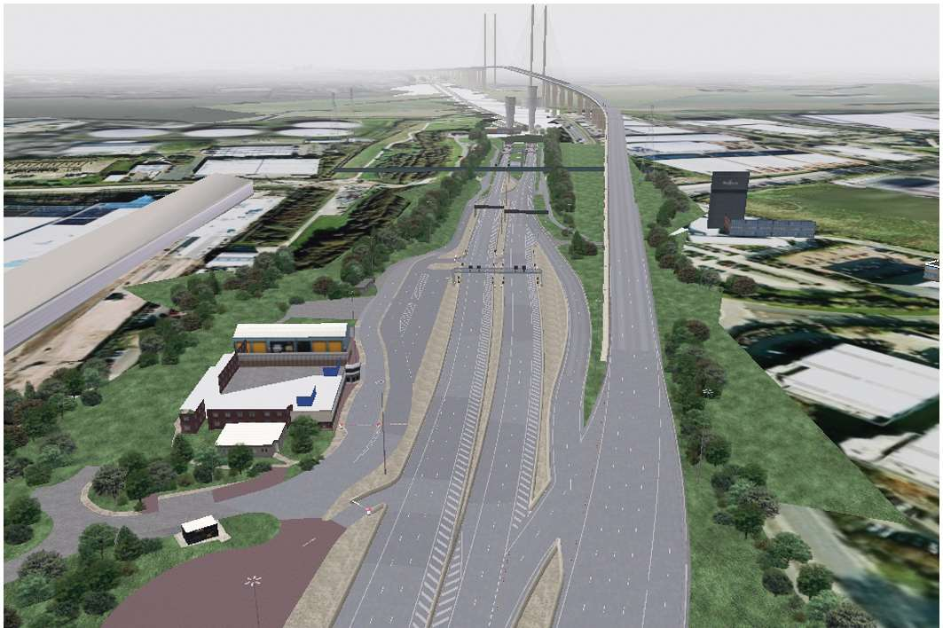 How the Dartford crossing will look once the toll booths are removed