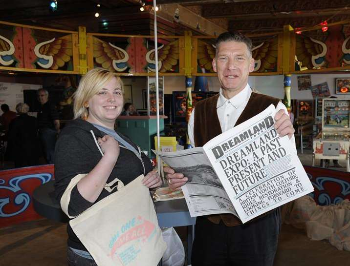 Kim Steward and Graham Ward at Dreamland fun park's new visitor and learning centre