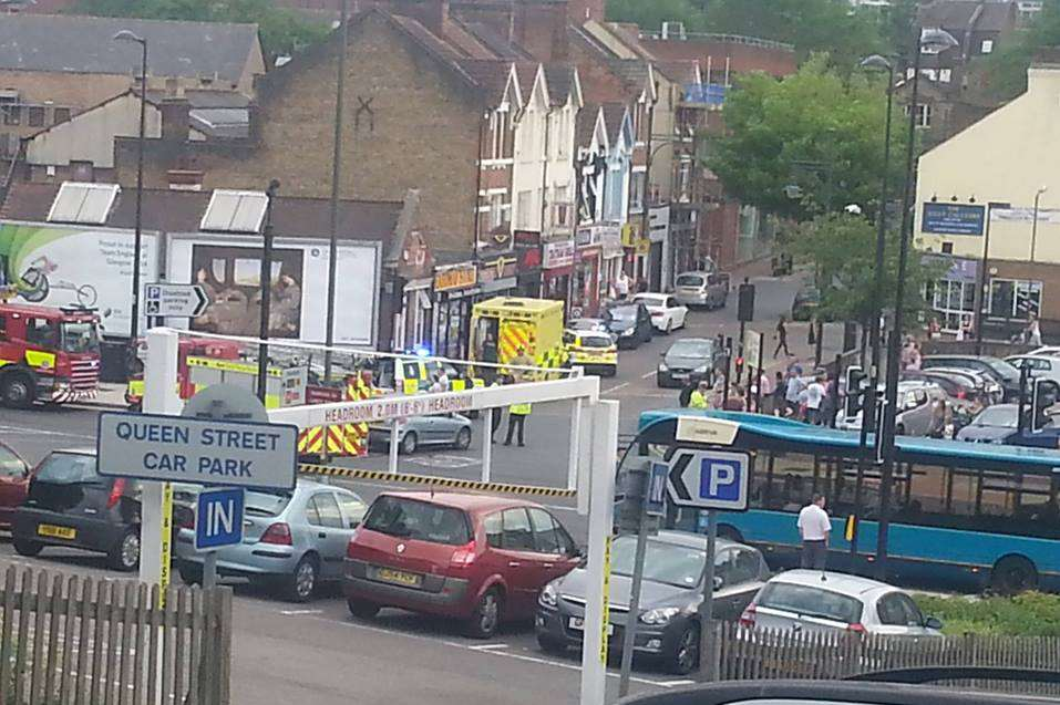 The scene of the accident near Halfords. Picture: Kelly Longman.