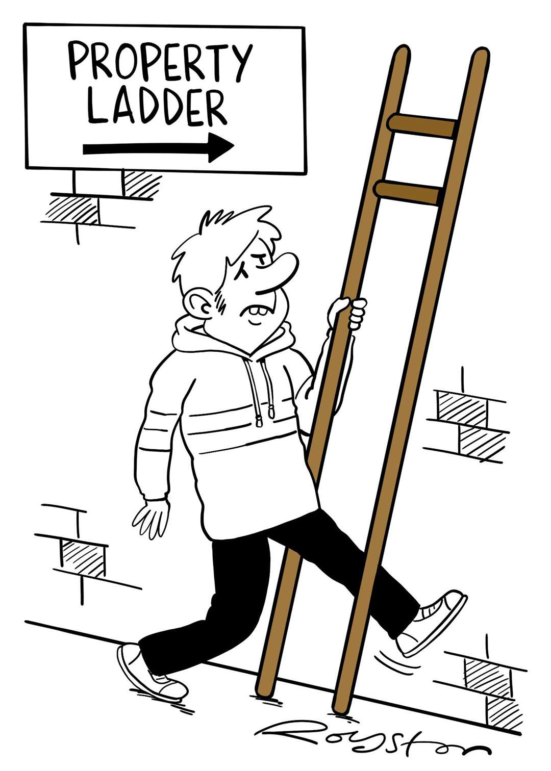 The almost impossible task of getting on the property ladder. By Royston Robertson