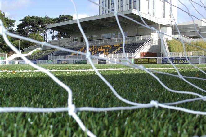Gallagher Stadium's 3G pitch. Picture: Martin Apps