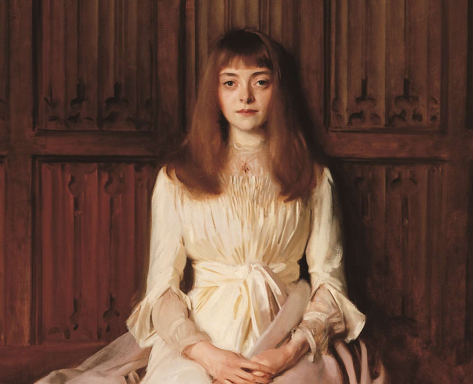 Elsie Palmer (A Young Lady in White) painted by John Singer Sargent is at Ightham Mote for a little longer