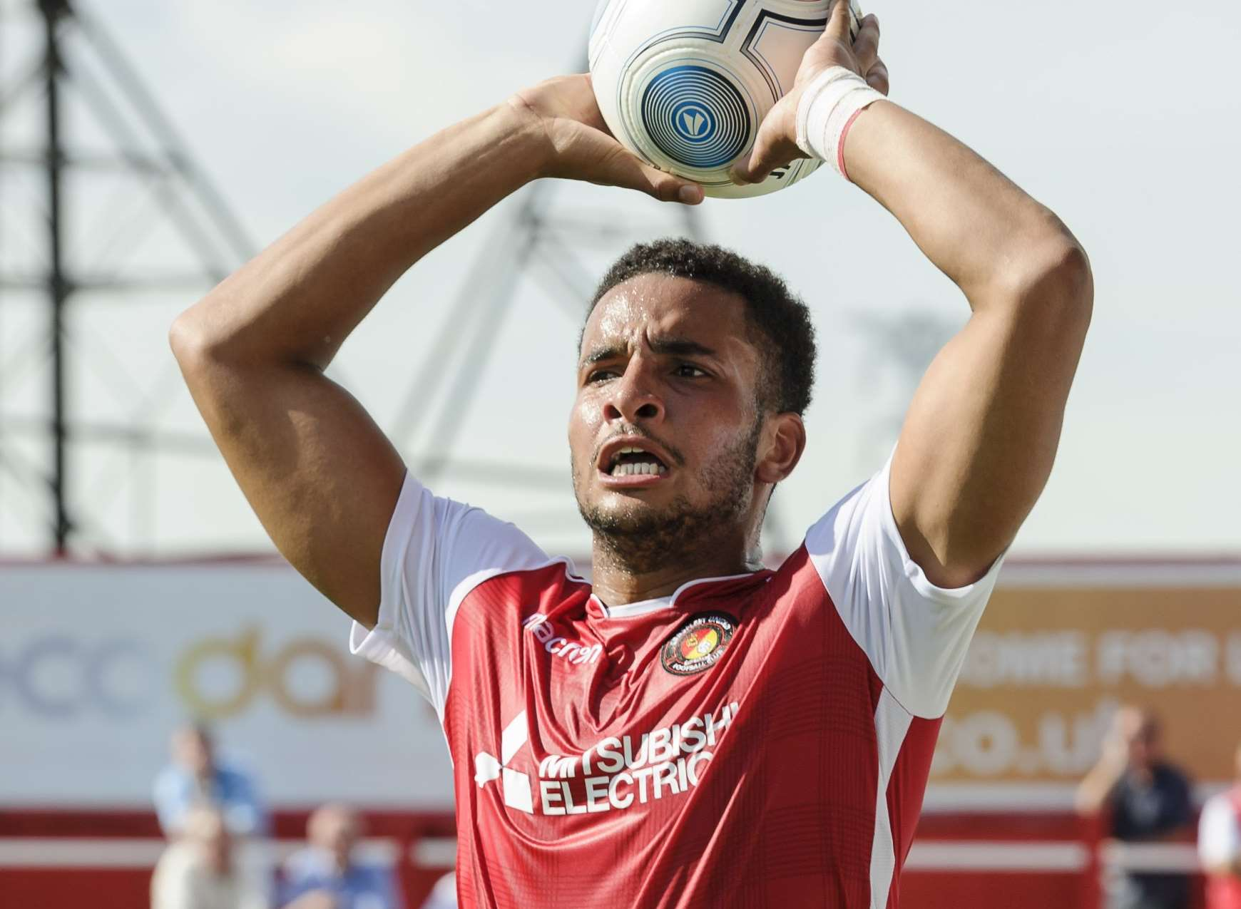 Chris Bush made his Ebbsfleet debut against Gateshead Picture: Andy Payton