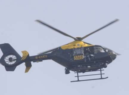 The police helicopter was launched. Stock picture by Chris Davey