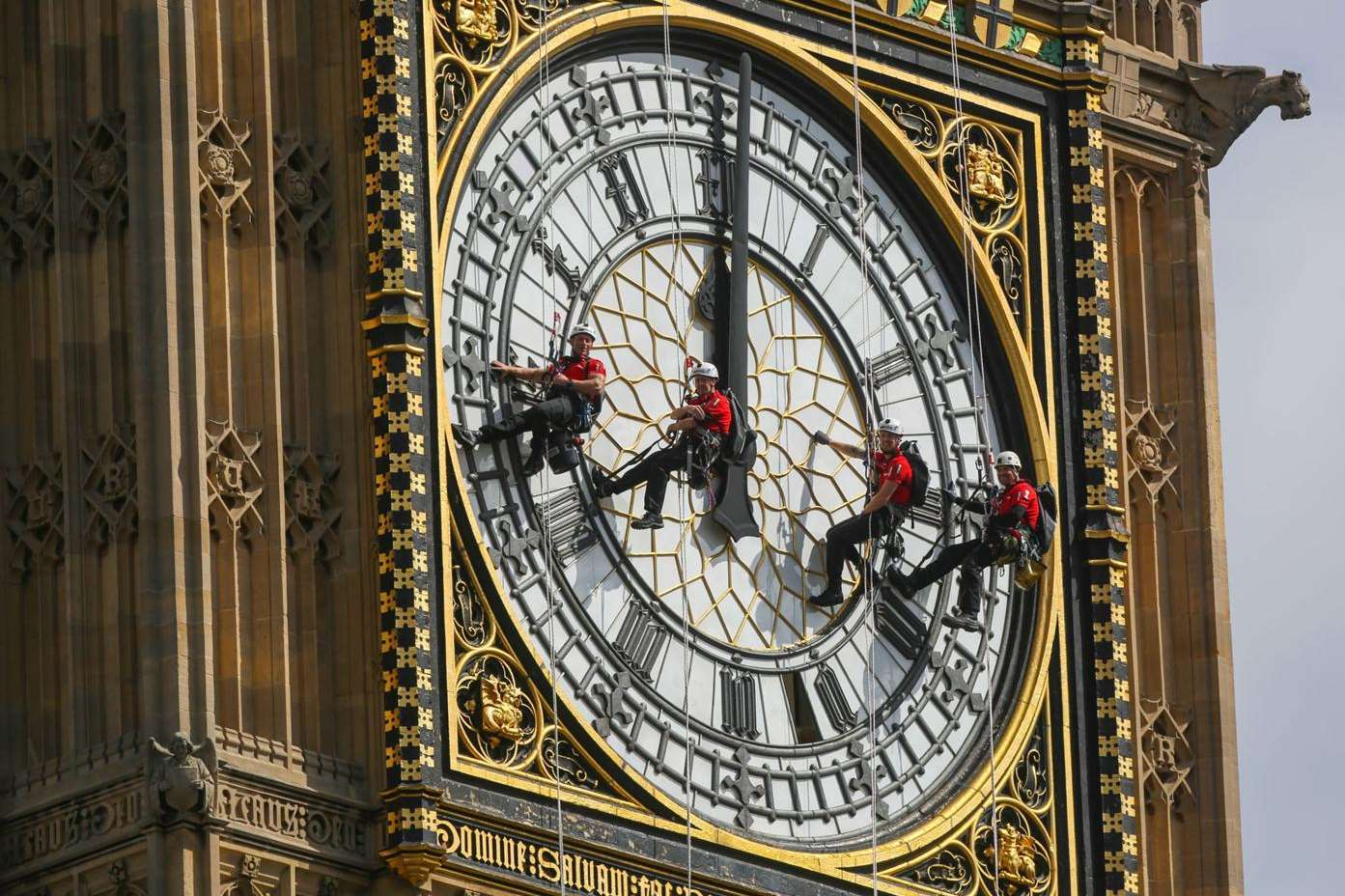 The Big Ben tower is at the heart of UK time-keeping - here it gets a spruce-up