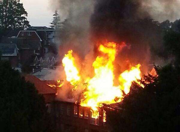 The scene of the fire in Tunbridge Wells. Picture by Sarah Goddard