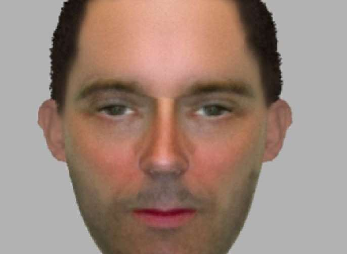The e-fit of the suspect police are searching for Picture: Kent Police