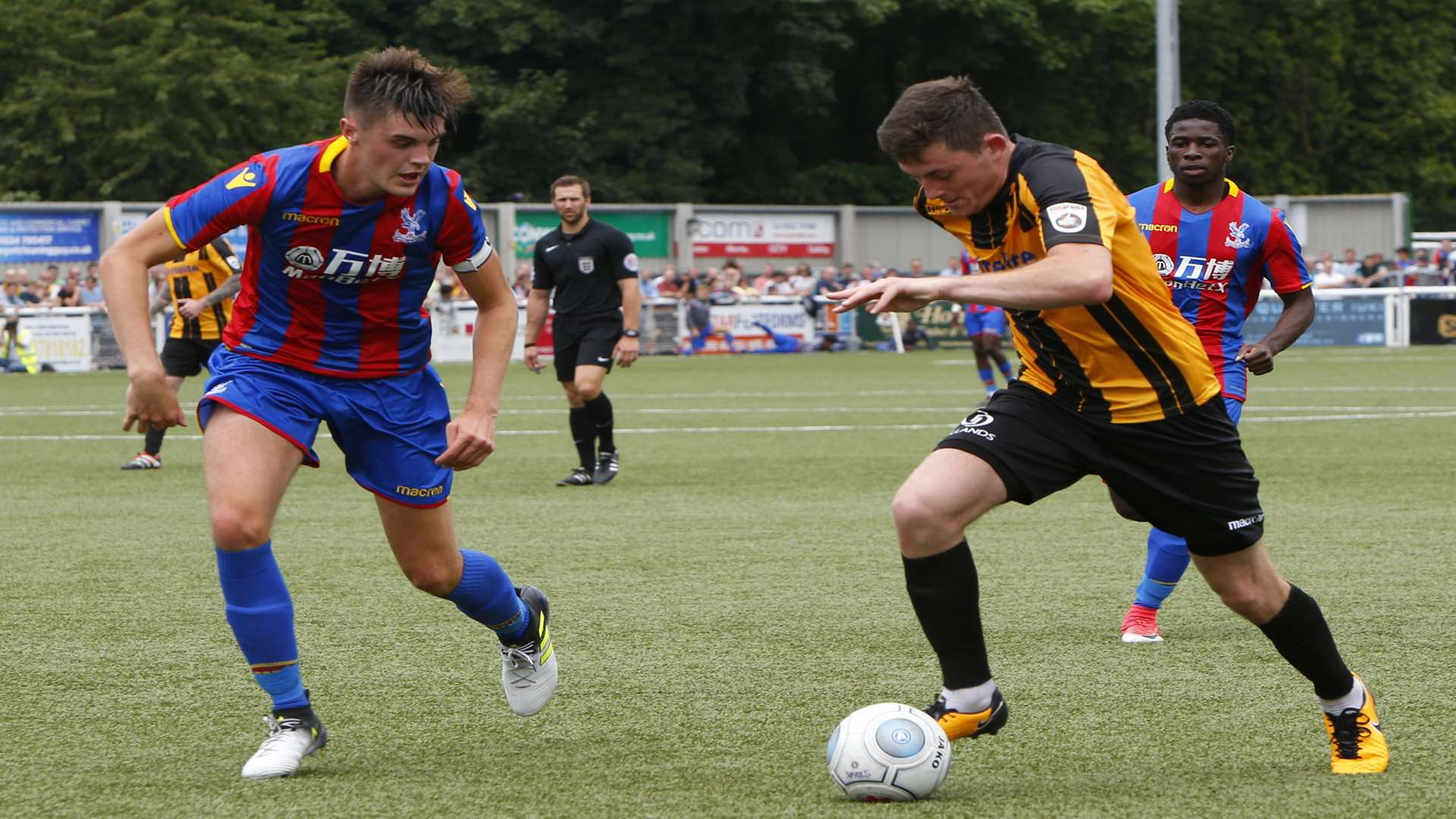 Tom Wraight in pre-season action against Crystal Palace Picture: Andy Jones