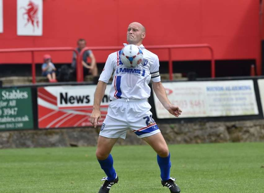 Gillingham's former captain Adam Barrett spent the first half of the season at AFC Wimbledon Picture: Keith Gillard