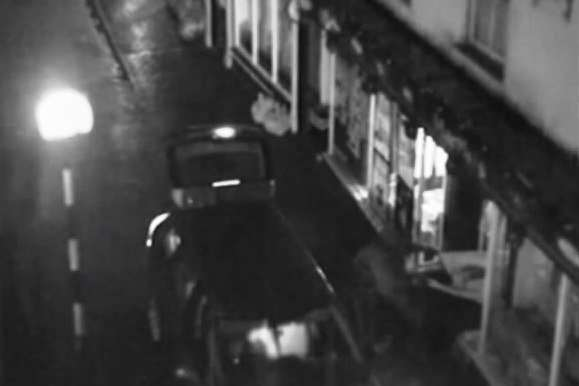 CCTV of the raid from West Malling High Street